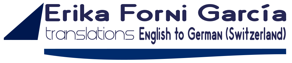 Logo Erika Forni Garcia Swiss-German Translations